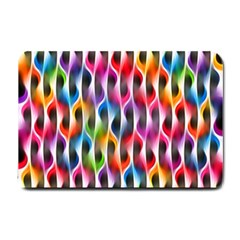 Rainbow Psychedelic Waves Small Door Mat