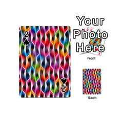 Rainbow Psychedelic Waves Playing Cards 54 Designs (Mini)