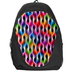 Rainbow Psychedelic Waves Backpack Bag