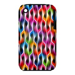Rainbow Psychedelic Waves Apple Iphone 3g/3gs Hardshell Case (pc+silicone)