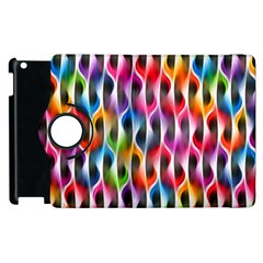 Rainbow Psychedelic Waves Apple Ipad 2 Flip 360 Case