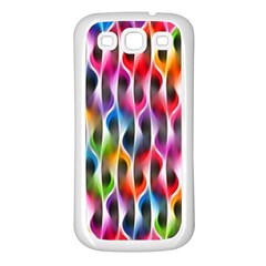 Rainbow Psychedelic Waves Samsung Galaxy S3 Back Case (white)