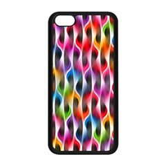 Rainbow Psychedelic Waves Apple Iphone 5c Seamless Case (black)