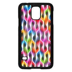 Rainbow Psychedelic Waves Samsung Galaxy S5 Case (black)