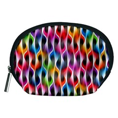Rainbow Psychedelic Waves Accessory Pouch (Medium)