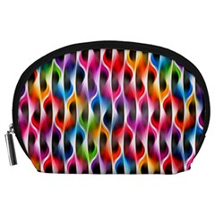 Rainbow Psychedelic Waves Accessory Pouch (Large)