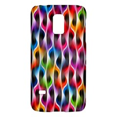 Rainbow Psychedelic Waves Samsung Galaxy S5 Mini Hardshell Case