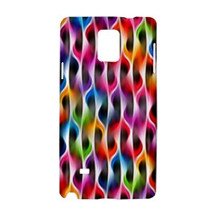 Rainbow Psychedelic Waves Samsung Galaxy Note 4 Hardshell Case