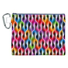 Rainbow Psychedelic Waves Canvas Cosmetic Bag (XXL)