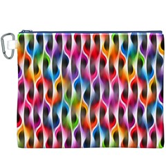 Rainbow Psychedelic Waves Canvas Cosmetic Bag (XXXL)