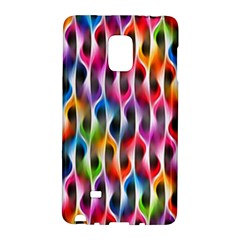 Rainbow Psychedelic Waves Samsung Galaxy Note Edge Hardshell Case
