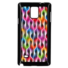 Rainbow Psychedelic Waves Samsung Galaxy Note 4 Case (Black)