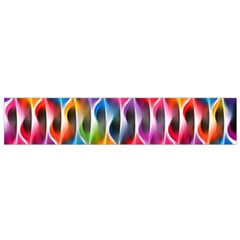 Rainbow Psychedelic Waves Flano Scarf (Small)