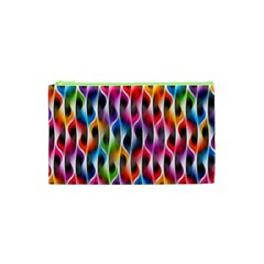 Rainbow Psychedelic Waves Cosmetic Bag (xs)