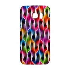 Rainbow Psychedelic Waves Samsung Galaxy S6 Edge Hardshell Case