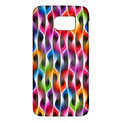 Rainbow Psychedelic Waves Samsung Galaxy S6 Hardshell Case