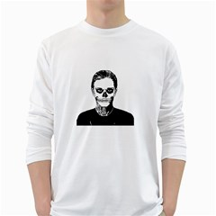Tatezazzle Men s Long Sleeve T-shirt (White)