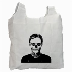 Tatezazzle White Reusable Bag (two Sides)
