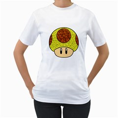 Really Mega Mushroom Women s Two-sided T-shirt (White)