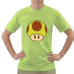 Really Mega Mushroom Men s T-shirt (Green)