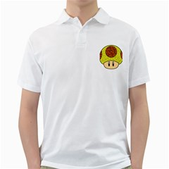 Really Mega Mushroom Men s Polo Shirt (White)