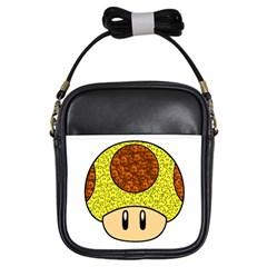 Really Mega Mushroom Girl s Sling Bag