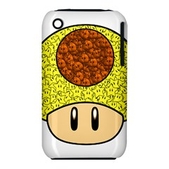 Really Mega Mushroom Apple Iphone 3g/3gs Hardshell Case (pc+silicone)