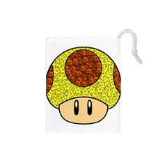 Really Mega Mushroom Drawstring Pouch (Small)