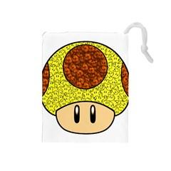 Really Mega Mushroom Drawstring Pouch (Medium)