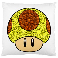 Really Mega Mushroom Large Flano Cushion Case (one Side)