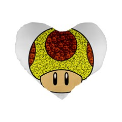 Really Mega Mushroom Standard 16  Premium Flano Heart Shape Cushion