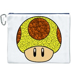 Really Mega Mushroom Canvas Cosmetic Bag (XXXL)