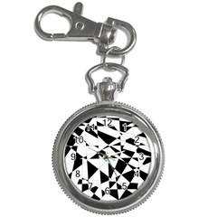 Shattered Life In Black & White Key Chain Watch