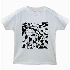 Shattered Life In Black & White Kids T-shirt (White)