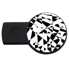 Shattered Life In Black & White 4gb Usb Flash Drive (round)