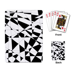 Shattered Life In Black & White Playing Cards Single Design