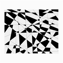 Shattered Life In Black & White Glasses Cloth (small, Two Sided)