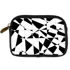 Shattered Life In Black & White Digital Camera Leather Case