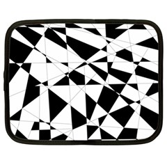 Shattered Life In Black & White Netbook Sleeve (xl)