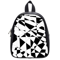 Shattered Life In Black & White School Bag (small)