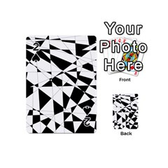 Shattered Life In Black & White Playing Cards 54 Designs (mini)
