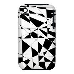 Shattered Life In Black & White Apple Iphone 3g/3gs Hardshell Case (pc+silicone)