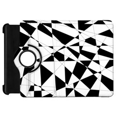 Shattered Life In Black & White Kindle Fire Hd Flip 360 Case