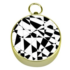 Shattered Life In Black & White Gold Compass