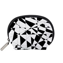 Shattered Life In Black & White Accessory Pouch (small)