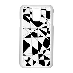 Shattered Life In Black & White Samsung Galaxy S5 Case (White)