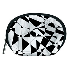 Shattered Life In Black & White Accessory Pouch (Medium)