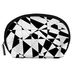 Shattered Life In Black & White Accessory Pouch (large)