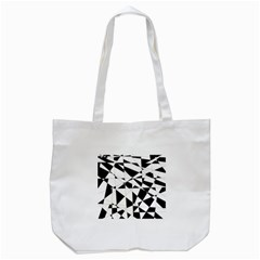 Shattered Life In Black & White Tote Bag (White)