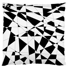 Shattered Life In Black & White Standard Flano Cushion Case (Two Sides)